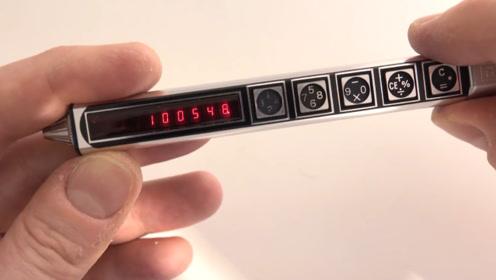 最奇葩的钢笔,与计算器合二为一,这样的钢笔你愿意用吗?