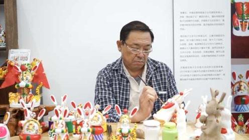 传承4代的手艺,他做济南泥塑兔子王30多年:每天能做一两个