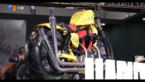 哈雷戴维森多款重磅车型及改装车亮相摩博会