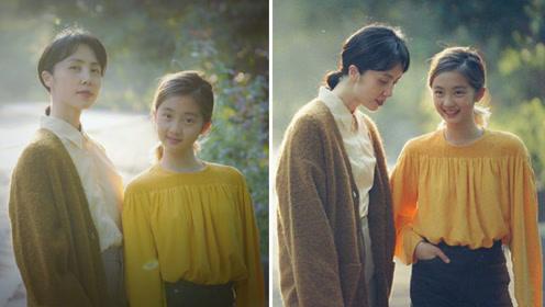 孙莉母女演绎初秋暖色系穿搭 多多快赶超172的妈妈