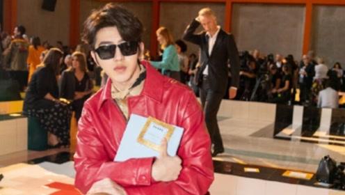 在Prada的秀场上 坤坤告诉了我们他的时尚秘诀