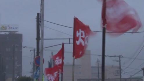 """第17号台风""""塔巴""""席卷日本 57人受伤500多幢房屋受损"""
