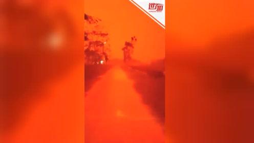 空气污染新境界:印尼天空变成血红色 分不清白天黑夜