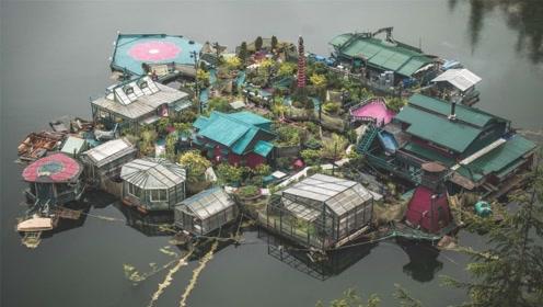 夫妻买不起房,自己建小岛,徒手打造20多年,美成世外桃源