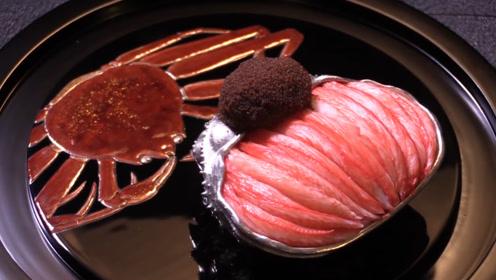 日本人把螃蟹做成了吃不起的样子,连虾壳也不放过,网友:太高级