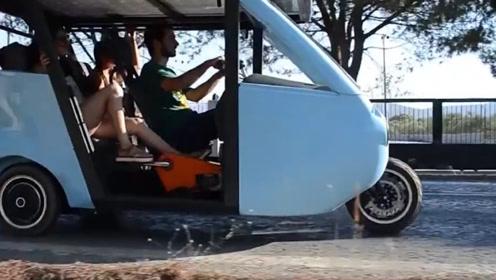 国外新型三轮自行车,太阳能供电全自动驾驶,网友:哪里有多少钱