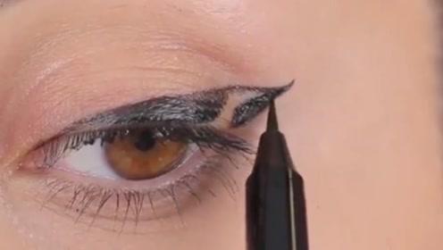 化妆大神都是这样画眼线的啊,怪不得我一直画不好!