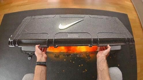 世界上最酷炫的跑鞋,一双放在火山石上,土豪的玩具啊