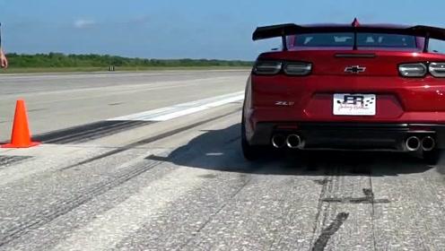 外媒测试2019款雪佛兰科迈罗ZL1的最高速度!