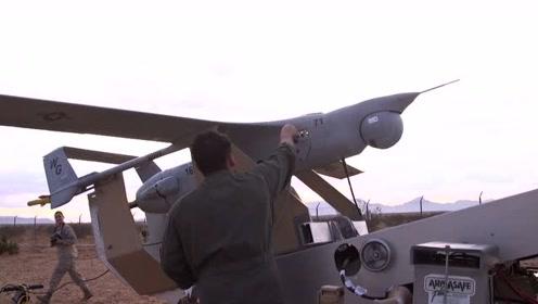 RQ-21黑杰克无人机发射与回收,这么粗暴回收飞机不会受损吗