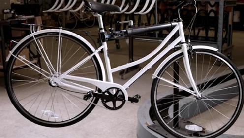 难得一见的自行车生产过程,从一根钢管变成自行车,看完大开眼界