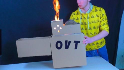 用纸箱做一个打火机,你见过吗?真的是太炫酷了,一起看看吧!