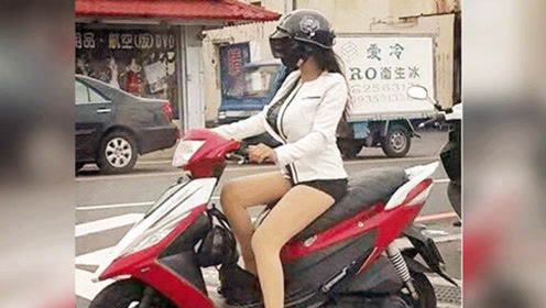 眼看就要被轿车撞倒,短裙女孩的反应神了!