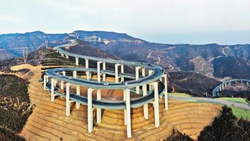 中国最霸气的公路,大山惊现三层螺旋高架桥,惊艳众多外国人!