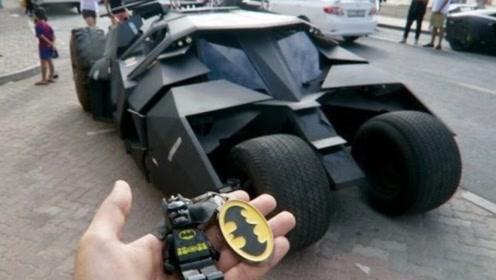 司机倒车的一瞬间,才知道蝙蝠侠跑车贵在哪里了!