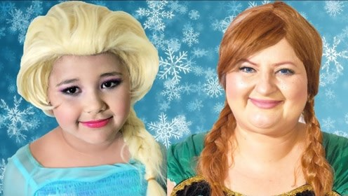 亲子互动美妆:母女俩仿妆迪士尼艾莎女王和安娜公主!
