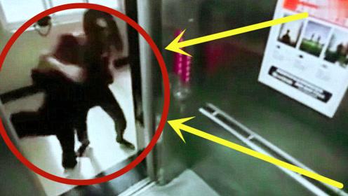 柔道美女在电梯被醉汉挑衅,开门的瞬间男子傻了,监控记录下全程