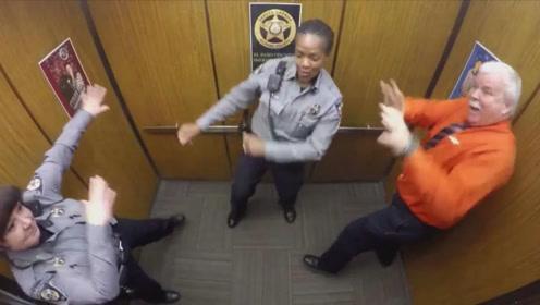 史上最嗨皮的电梯蹦迪,老外们在电梯里跳舞,网友:太逗了