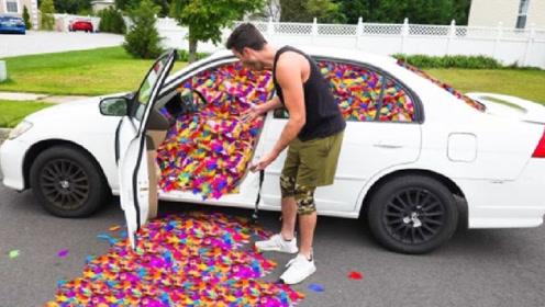 把兄弟的车倒满彩色羽毛会怎样?损友亲测,网友:交友需谨慎!