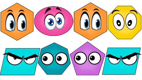 快乐英语记单词几何形状学习什么是椭圆形什么是平行四边形呢