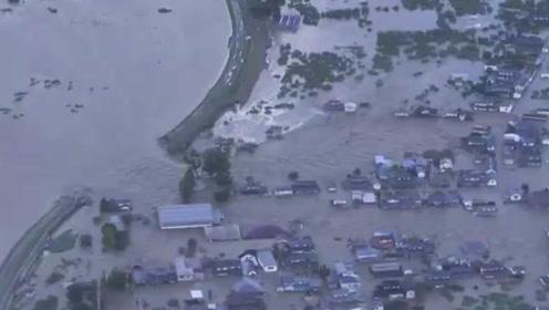 海贝思肆虐日本遇难人数上升至5人 河水泛滥高架被冲断