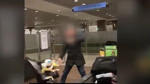 韩国机场海关闹事集锦:偷运商品 醉酒者大闹机场