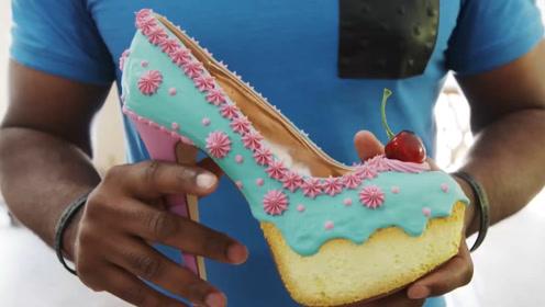 小伙用奶油制作高跟鞋,女友穿上后, 真的太惊艳了!