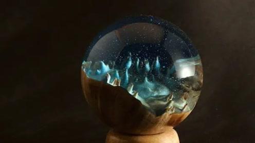 """男子用树脂打造一颗""""水晶球"""",扔地上都摔不坏,太有创意了"""