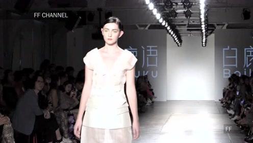 纽约时装周2020春夏新品成衣秀,白鹿语超模带您走进白衣飘飘的年代