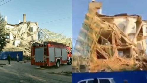 曝吉林白城一栋办公楼倒塌,消防已进场救援,伤亡暂不明