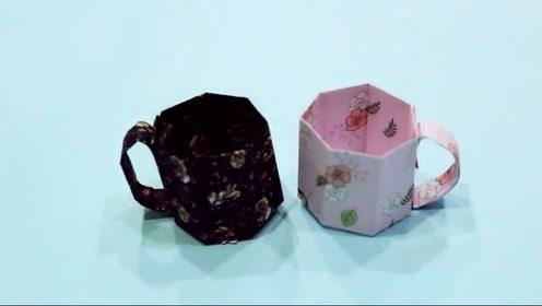 儿童手工制作大全 手工折纸杯子折纸制作 创意diy杯子制作