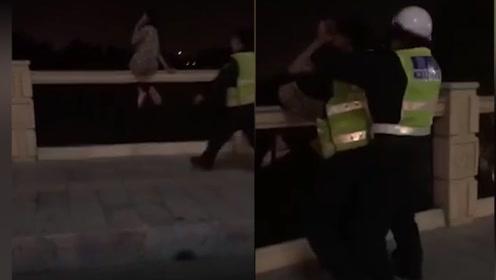20岁女子感情不顺凌晨桥墩欲轻生 被救时大喊大叫