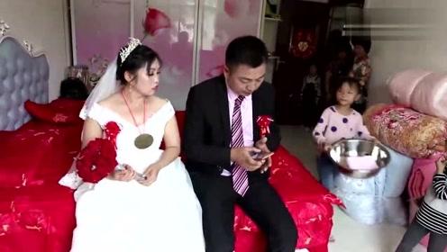 湖南1米9小伙娶媳妇,新娘看着小鸟依人,有没有1米4?