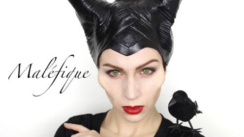 国外女子仿妆秀:将自己美妆打扮成了沉睡魔咒邪恶王后