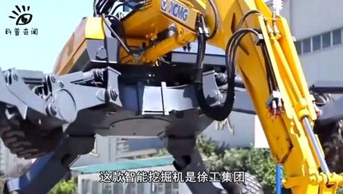 最强智能挖掘机你见过吗?中国制造出来了,开着还很爽