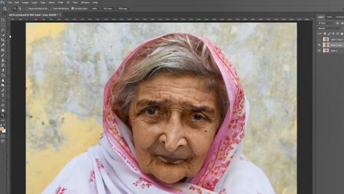 电脑高手把86岁老奶奶,还原成18岁的模样,没想到是个美女
