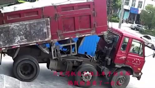 一切发生的太突然,丝毫没有给运输车司机逃生的机会,生命就这样没了!