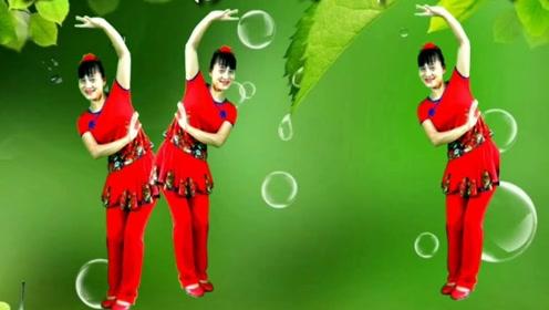 永川阿玉广场舞《对花》黄梅戏曲调,优美流畅的步子舞