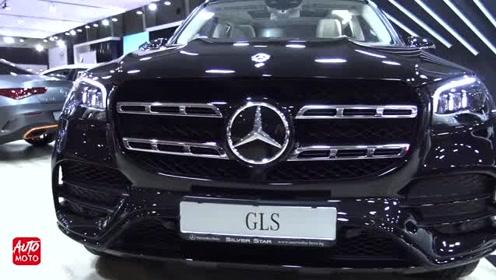 2020款奔驰GLS400d柴油版到货,外观和内饰详细实拍