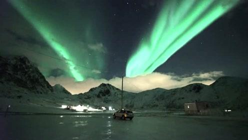 大自然的奇妙景象,挪威看到的极光!