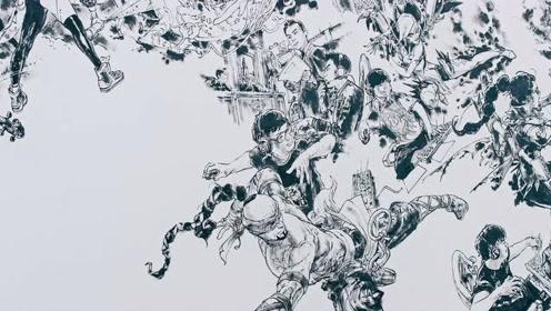 英雄联盟十周年壁画创作视频