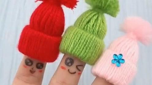 天冷了,给手指头戴顶帽子吧,这居然是师傅自己做的!