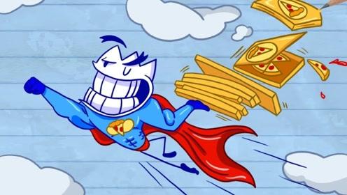 """铅笔人抢夺作者铅笔,在纸上""""大战"""",还把自己画成超级英雄!"""
