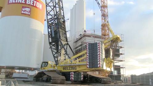 世界上最强悍的起重机,一次吊起870吨重量,司机年薪7位数!