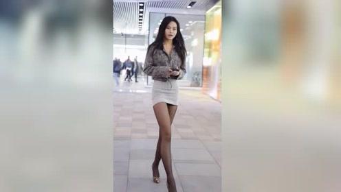 时尚街拍:这姑娘的身材我给99分,多一分我都怕她骄傲!