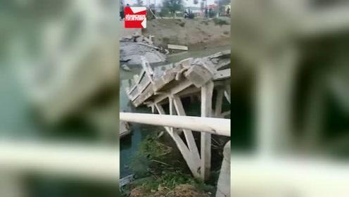 江苏高邮30多年水泥桥被压垮塌:系搅拌车超载所致,无人员伤亡