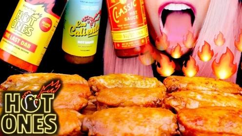 美味多汁的烤鸡翅,再搭配变态辣的辣酱,吃起来太爽了