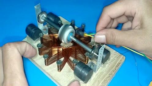 男子自制20000转磁悬浮电机,看着很神奇!