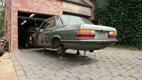 国外小伙子完美复活一辆经典的老宝马BMW E28连载3