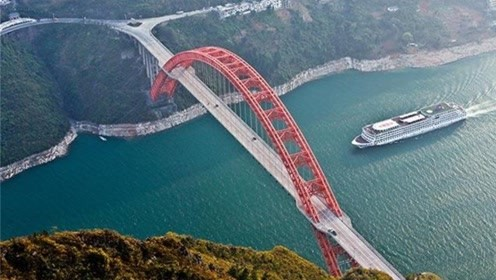 探秘巫山长江大桥,被称为渝东门户桥,创造多项世界纪录